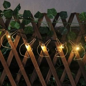 Solar Powered Outdoor Unicorn String Lights